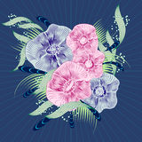 Abstract floral background. Vector abstract. Flowers . EPS 10 Stock Images