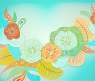 Abstract floral background. Vector abstract. Flowers . EPS 10 Stock Photography