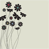 Abstract floral background.Vector card Royalty Free Stock Photo