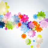 Abstract floral background. Vector background with colorful flowers royalty free illustration