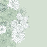 Abstract floral background. Vector flower element Stock Photography