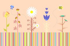 Abstract floral background  Vector Royalty Free Stock Photography