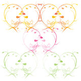 Abstract floral background. Vector heart with flower petals. Element for design. Stock Photo
