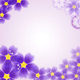 Abstract floral background. Vector illustration Stock Photos