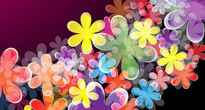 Abstract floral background. Vector illustration of abstract floral background Stock Image