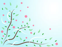 Abstract floral background. Vector illustration of abstract floral background Stock Photo