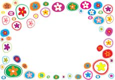 Abstract floral background, vector illustration Stock Image