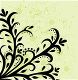 Abstract floral background. Vector illustration on green Royalty Free Stock Images