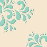 Abstract floral background. In vintage colors. Vector illustration Vector Illustration