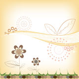 Abstract floral background warm Royalty Free Stock Photography