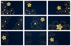 Abstract floral backgrounds. An illustration for yor design project. Very easy to edit  file Royalty Free Stock Photos