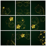 Abstract floral  backgrounds. An illustration for yor design project. Very easy to edit  file Stock Photography