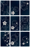 Abstract floral  backgrounds. An illustration for yor design project. Very easy to edit  file Royalty Free Stock Images