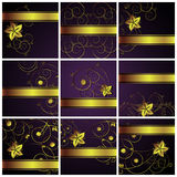 Abstract floral  backgrounds. An illustration for yor design project. Very easy to edit  file Royalty Free Stock Photography