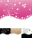 Abstract floral backgrounds Stock Image