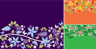 Abstract floral backgrounds Stock Images