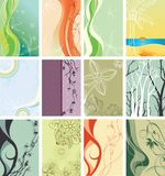 Abstract floral backgrounds. Illustration of abstract floral backgrounds Royalty Free Stock Images