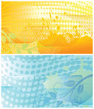 Abstract floral backgrounds one. Two abstract floral backgrounds, each in separated layer. Vector illustration royalty free illustration