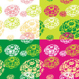 Abstract floral backgrounds set Royalty Free Stock Images