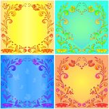 Abstract floral backgrounds stock illustration