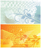 Abstract floral backgrounds three. Two abstract floral backgrounds, each in separated layer. Vector illustration vector illustration