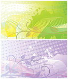 Abstract floral backgrounds two. Two abstract floral backgrounds, each in separated layer. Vector illustration vector illustration