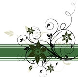 Abstract floral banner Stock Images