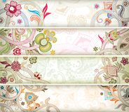 Abstract Floral Banner Royalty Free Stock Images