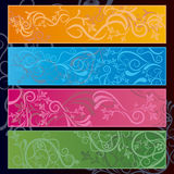 Abstract floral banner Royalty Free Stock Photography