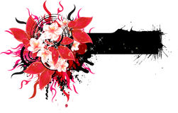 Abstract floral banner vector illustration