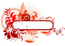 Abstract floral banner  Stock Photo