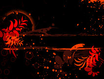 Abstract floral banner Stock Photography