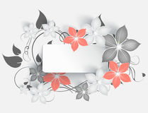 Abstract floral banner Royalty Free Stock Photos