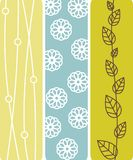 Abstract floral banners Stock Image