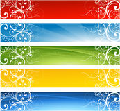 Abstract floral banners Royalty Free Stock Photos