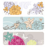 Abstract floral banners Royalty Free Stock Photography