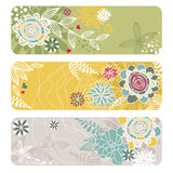 Abstract floral banners Royalty Free Stock Images