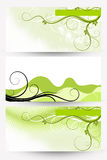 Abstract floral banners. Green and white Royalty Free Stock Image