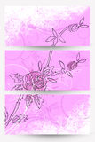 Abstract floral banners. Pink and white Stock Photography