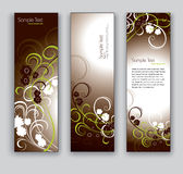 Abstract Floral Banners. Vector Eps10 Backgrounds. Stock Photography