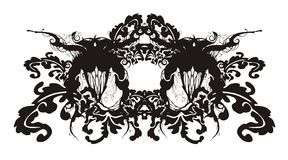 Abstract floral baroque ornament. Abstract image, rasterized vector, baroque style Stock Images