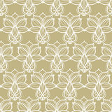 Abstract floral beige pattern Royalty Free Stock Photography