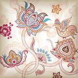 Abstract Floral and Bird Stock Images