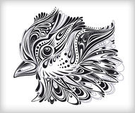 Abstract floral bird background. High quality decorative graphic of a beautifully detailed abstract bird Royalty Free Stock Photography