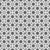 Abstract floral black and white pattern. Retro tile texture background. Seamless illustration. Abstract floral black and white pattern. Retro tiled texture stock illustration