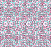 Abstract floral blue seamless pattern Stock Photography