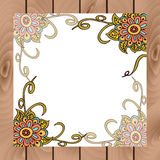 Abstract floral board in indian style Royalty Free Stock Photo