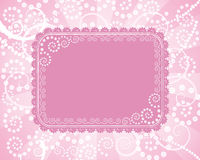 Abstract floral border Stock Photography