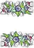 Abstract floral border. Illustration of abstract floral border isolated vector illustration