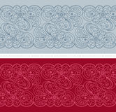 Abstract floral border set Royalty Free Stock Image